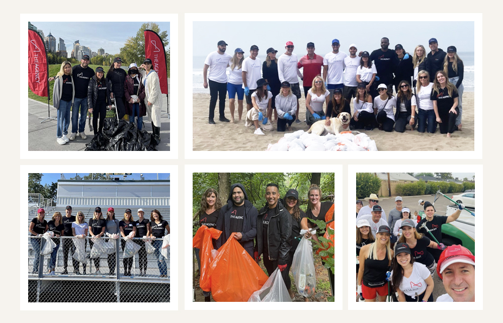 The Agency Team Gives Back to Our Planet & Communities