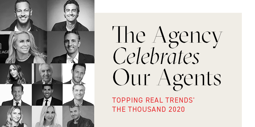 The Agency Celebrates Our Agents Topping REAL Trends' The Thousand 2020