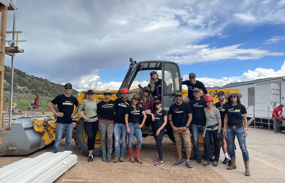 Giddy Up - The Agency Aspen Hosts First Build Day with Giveback Homes
