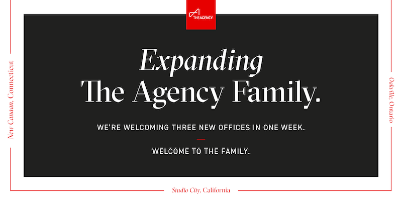 The Agency Opens Three New Offices Coast to Coast